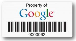 asset label with google logo
