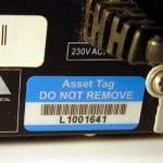 Equipment sticker