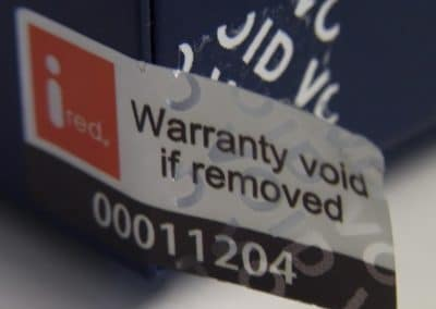 void if removed label