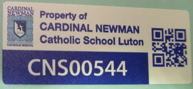 School QR Asset Label