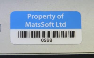 Bar Code Asset Label