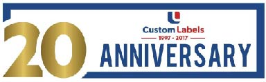Custom Printed Labels UK. 20 Years of Business!