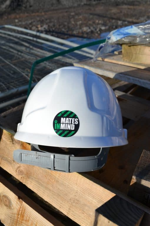Water based adhesive for hard-hat use.