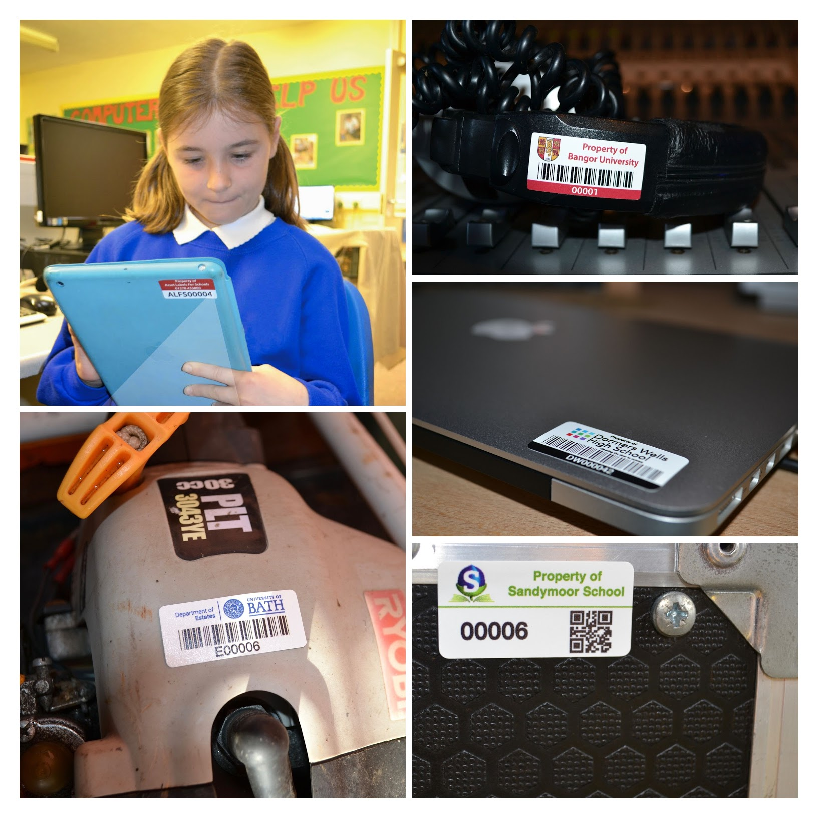 School Asset Labels