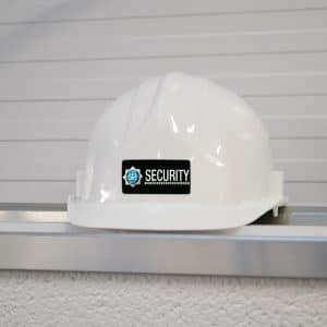 hard hat security label