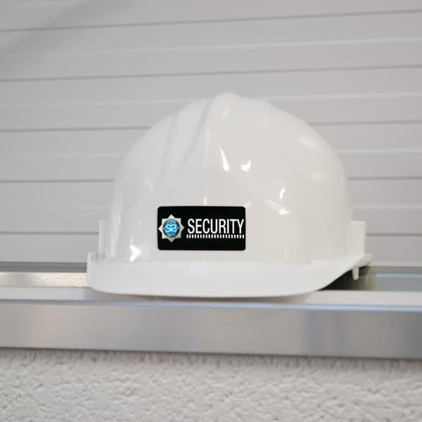 hard hat security label