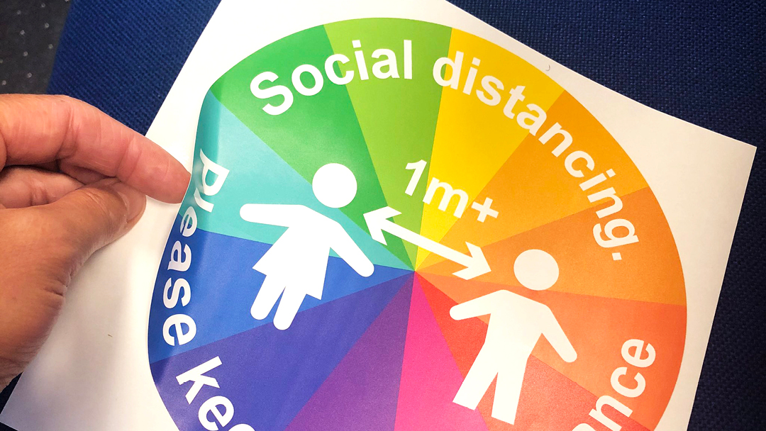 2m Floor Stickers for Social Distancing Measures