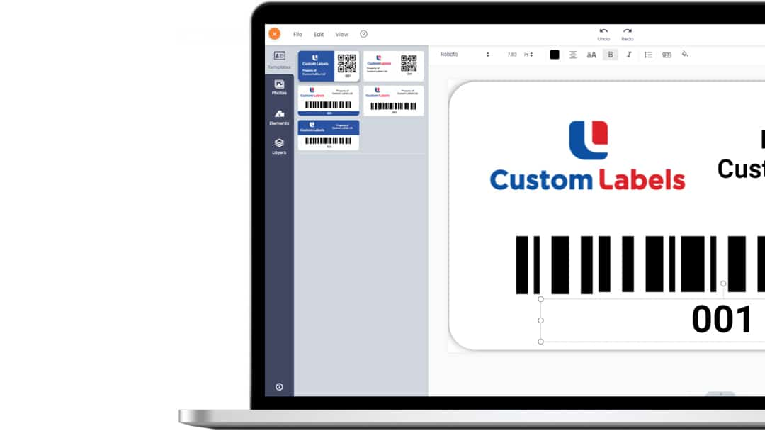 Our new and intuitive Advanced Label Designer gives customers complete customisation
