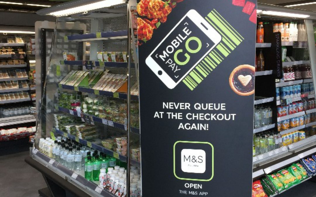 M&S expands its QR and barcode Mobile Pay Go technology