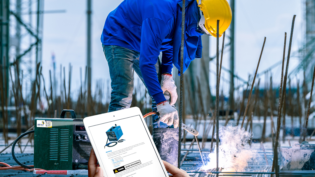 Equipment Manuals, Safety instructions and company feedback all stored safely on one QR label